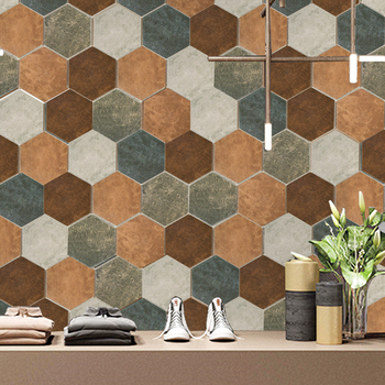 Hexagonal Cement Tile Bathroom Restaurant Balcony Discontinued Floor