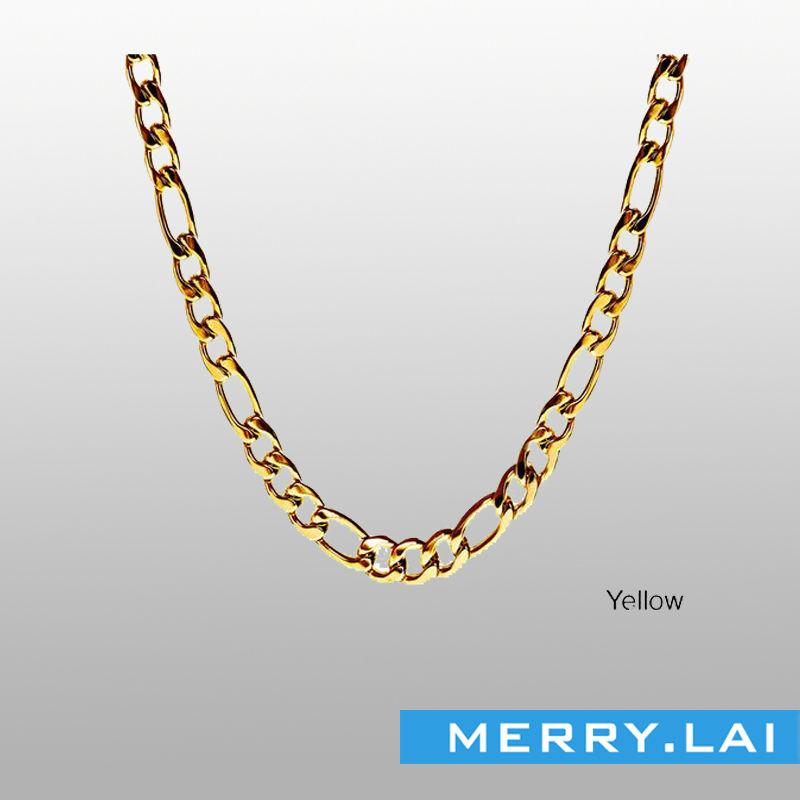 Man Stainless Steel Chain 14 Karat Gold