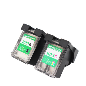 Refillable edible ink cartridge for hp 803BK 803 coffee printer