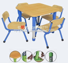 Adjustable Table Leg Kids Furniture Study Table and Chairs School Furniture