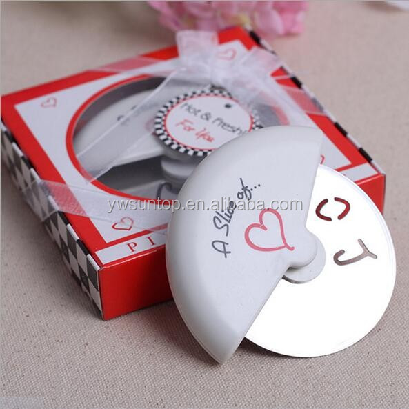 Unique Bridal Party Favors Wedding Gifts A Slice of Love Pizza Cutters