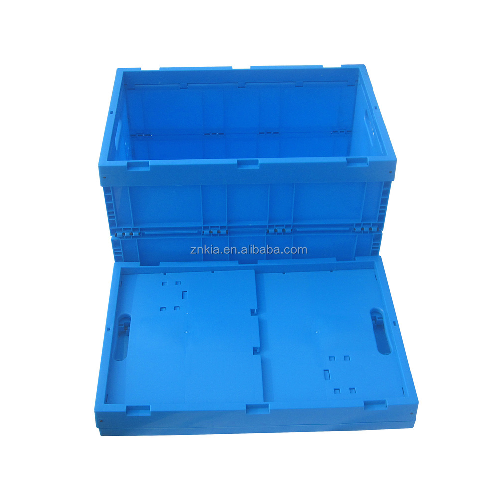 Plastic foldable crate plastic collapsible moving box plastic food storage container