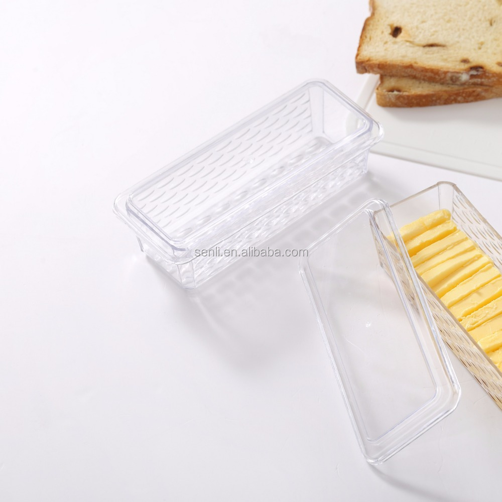 Wholesale clear butter dish with lid with factory price BUTTER PLATE with cover