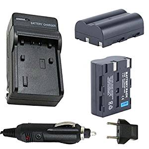 Battery (2-Pack) and Charger for Pentax K10D, K20D Digital SLR Camera