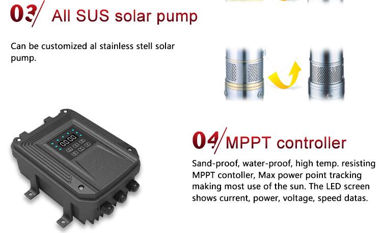 Solar water pompen en panelen prijs van solar waterpomp voor irrigatie solar dompelpompen 3 inch 1.5 hp