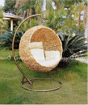 Beau Luxury Cane Chair Garden Swing With Stand