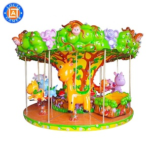 Most popular traditional amusement rides 12 Seats smusement kids mini merry go round carousel for sale