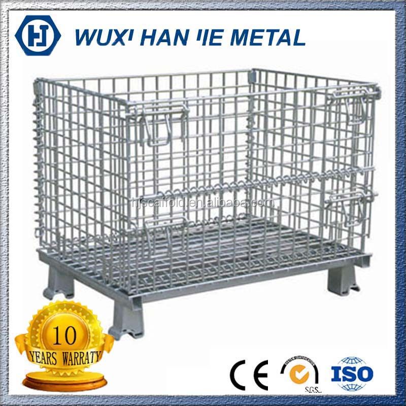 Large Metal Storage Wire Basket Carts With 4 Wheels