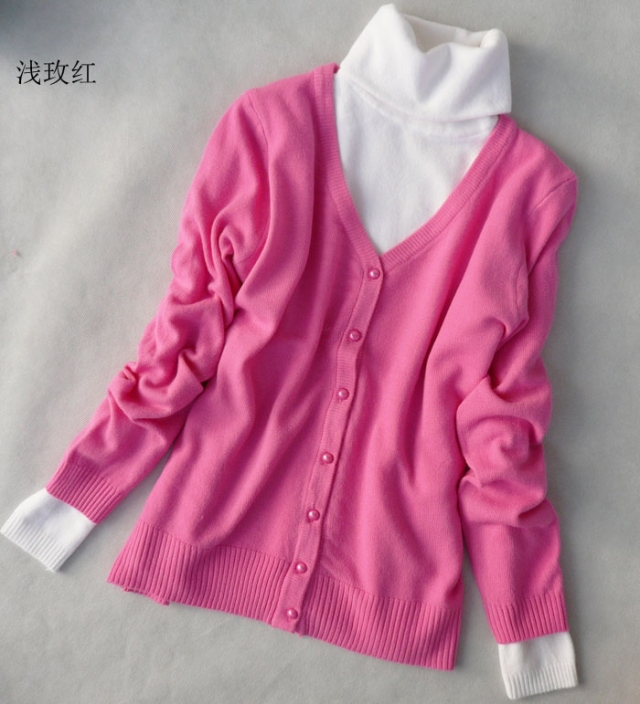 2015 hot sale knitted cardigan sweater women's spring ...