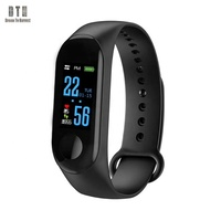 2019 sport fitness tracker Pedometer Waterproof watch band heart rate M3 CE ROHS smart bracelet