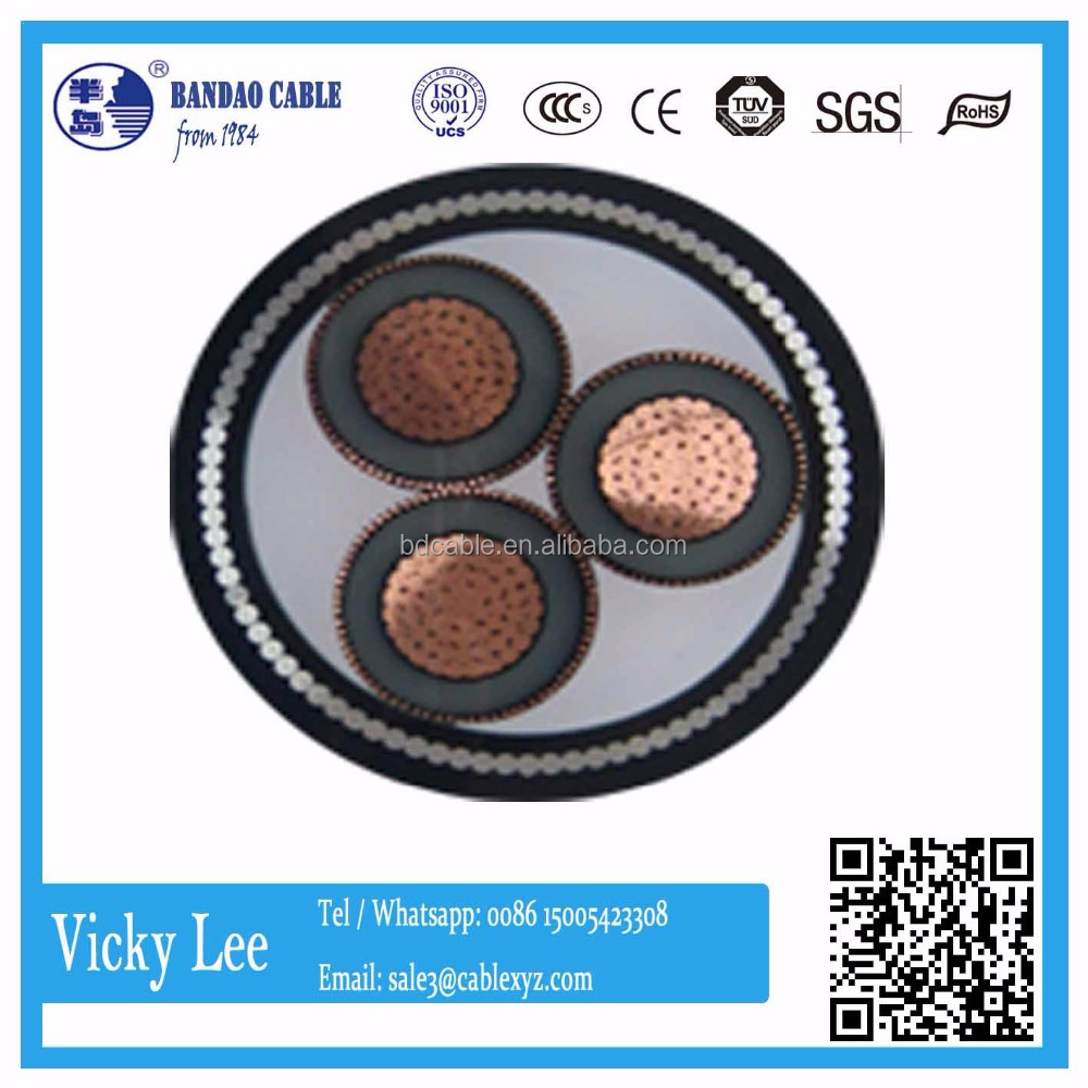 Copper Xlpe Insulated Power Cable 132kv 800mm2 Underground High Voltage Line Manufacturer Power Transmission Cable