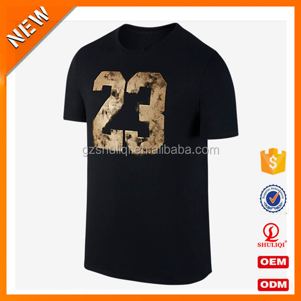 Gym t shirt 95 cotton / 5 elastane t-shirt custom breathable t shirt printing manufacturer