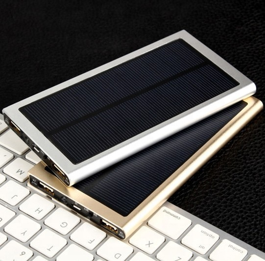 Factory Supply 20000 mAh Solar Power Bank met TWEE Usb-poort Outdoor Ultra Dunne Solar Charger 20000 mAh hot op amazon/Ebay/Wish