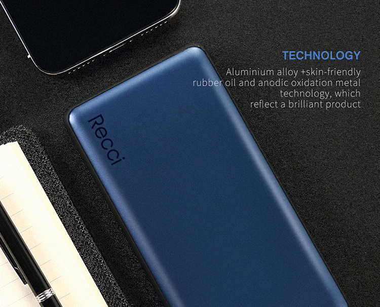 Recci Wholesale Portable Wireless Power Bank Shenzhen for Mobile Power Supply