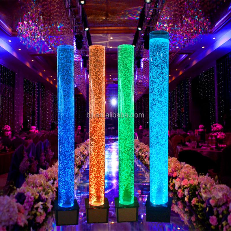 Parti d coration led water dance bulle acrylique tube tuyaux en plastique id - Tube a bulle lumineux ...
