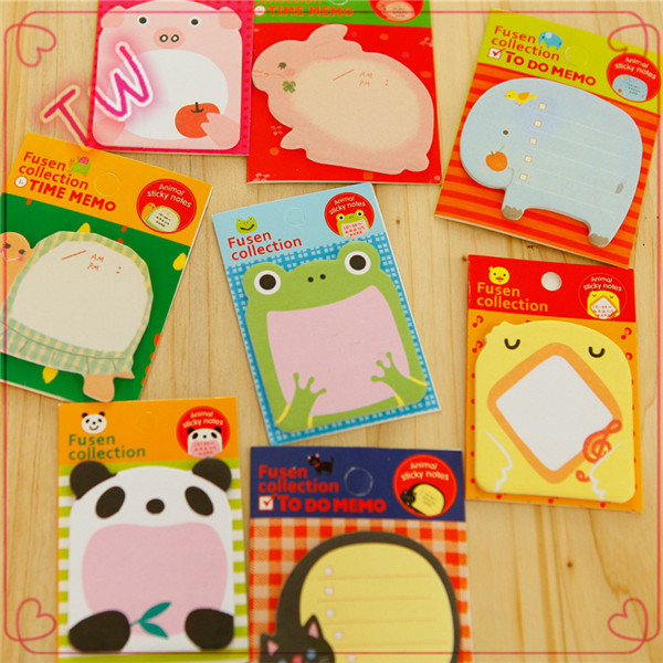 Populaire groothandel briefpapier logo print custom sticky notes dier vormige sticky memo pad 034