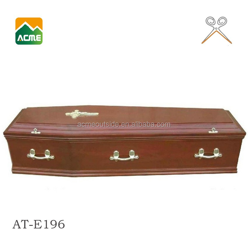 AT-E196 wholesale cheap wood coffin