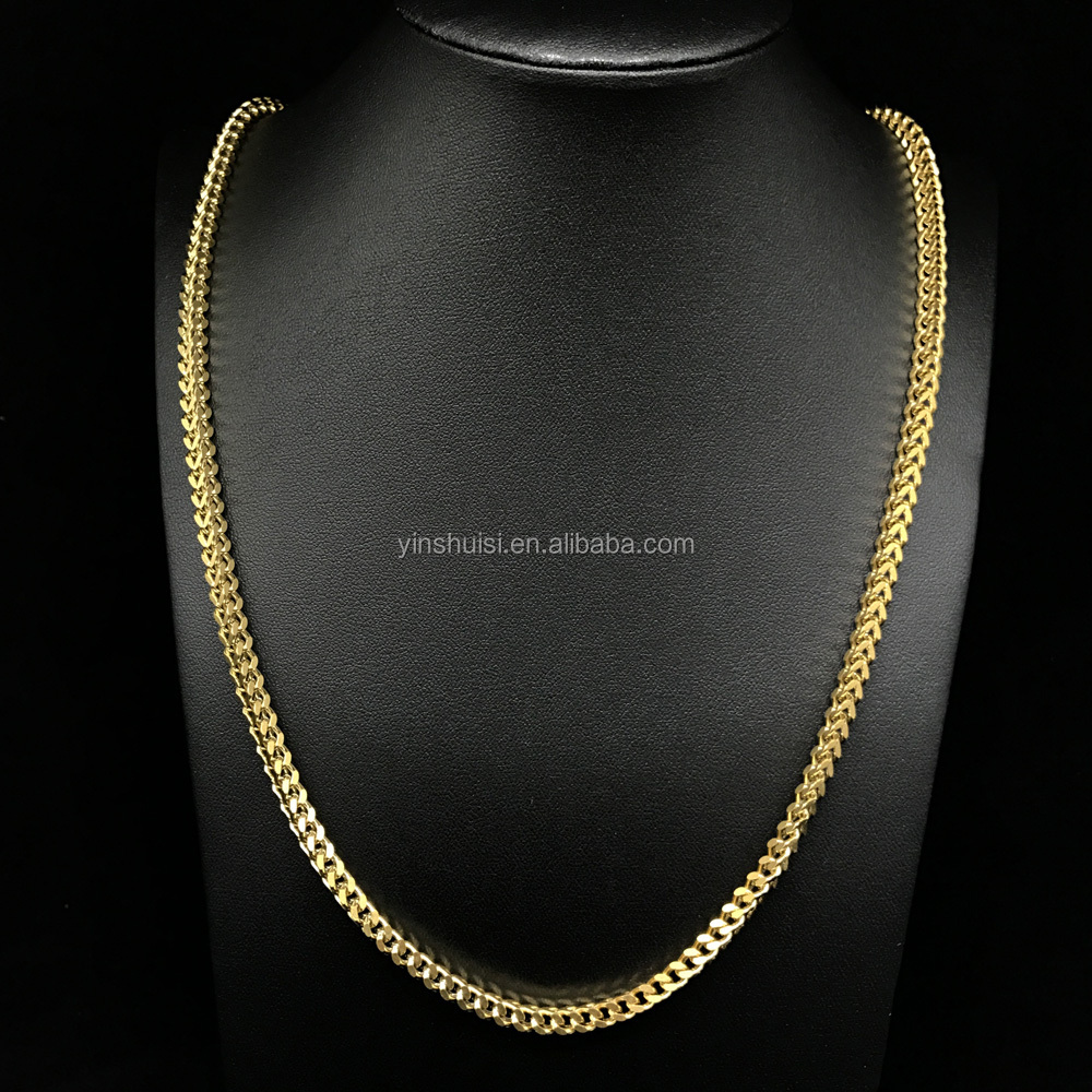 s pvd men necklace gold mm ebay bonded new chain sizes herringbone itm chains woman