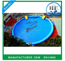 Guangzhou Banshi inflatable donut pool float, inflatable pool float