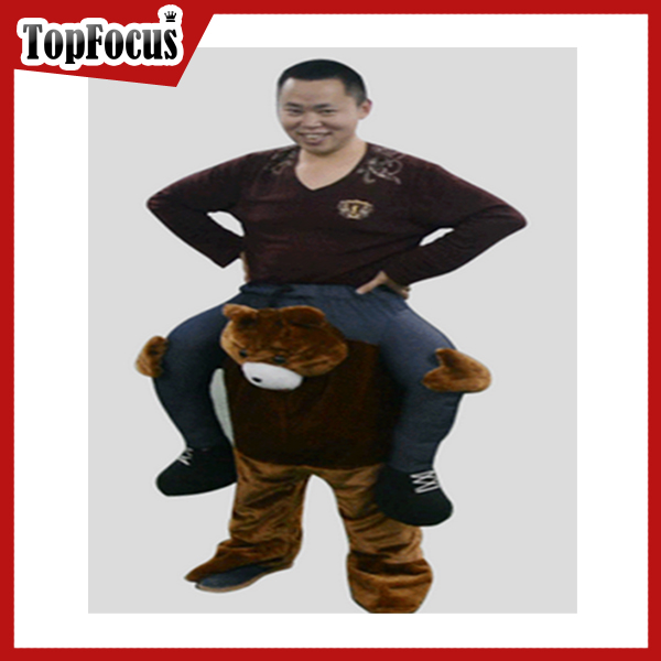 2016 hotsale Beer Festival Fancy Garden Ride On Bear Inflatable Carry Me Costume