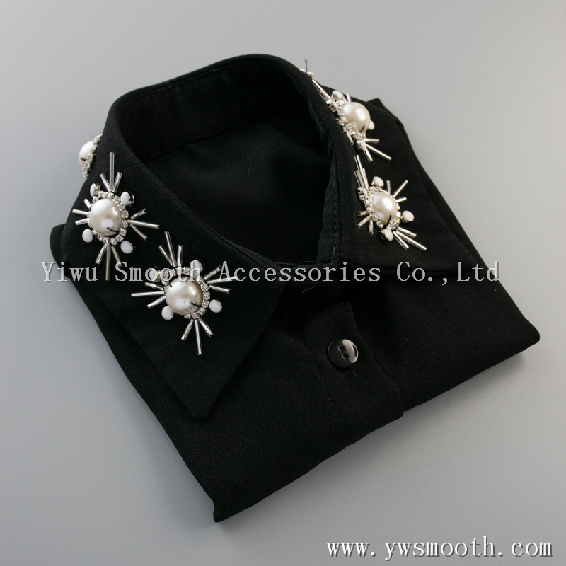 Shirt Fake Collar For Women Embroidered Rhinestone Shirt Collar Lace Detachable Lapel Fake Collar Clothes Accessories Profit Small Boy's Tie