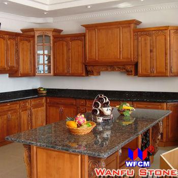 High Gloss Prefab Laminate Granite Kitchen Island
