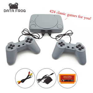 8 Bit Classic Video Game Console With 424 Games Support AV Out Put Family TV Video Game With Dual Controller