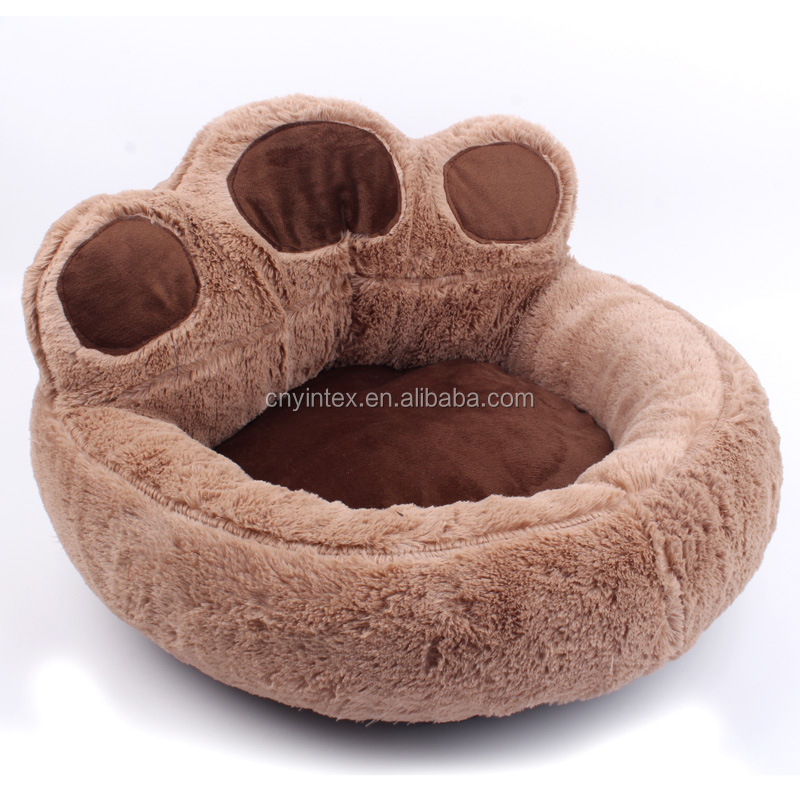 Round orthopedic luxury dog furniture beds for large dogs