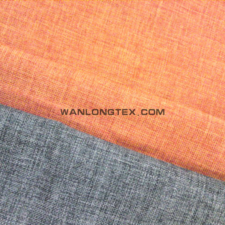 100% polyester POY,ATY imitated linen look like double color plain woven fabric for upholstery