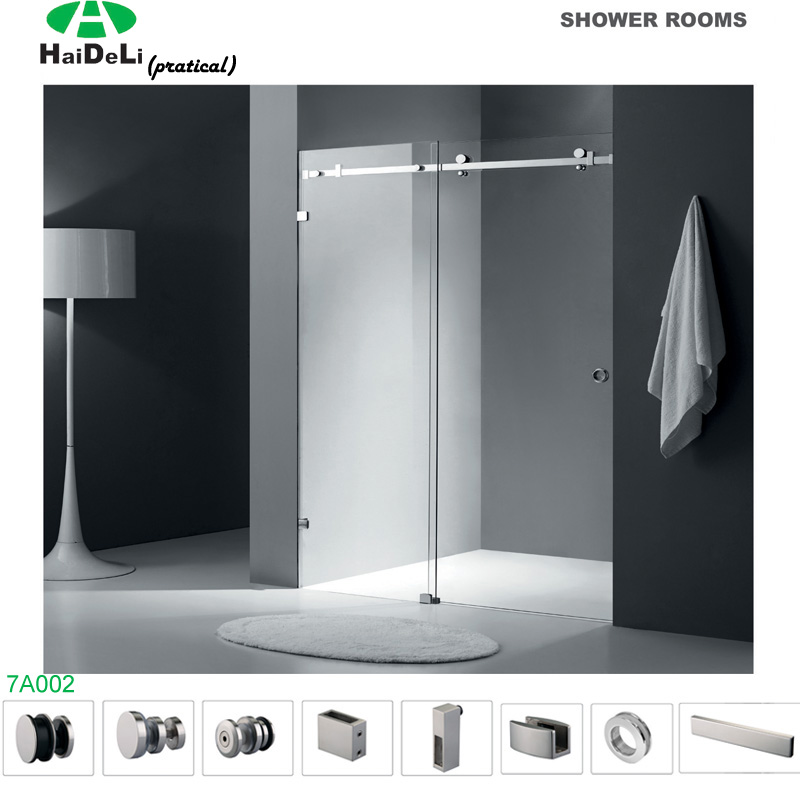 Interior Frameless Stainless Steel Sliding Shower Door Accessories
