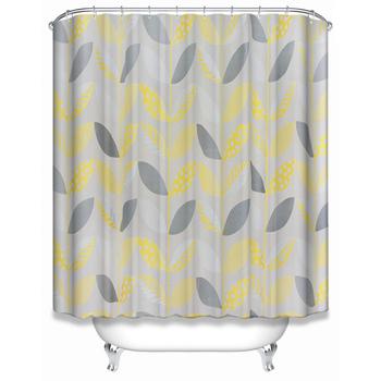 New Design Fashion Leaf Peva Clear Shower Curtain For Bath