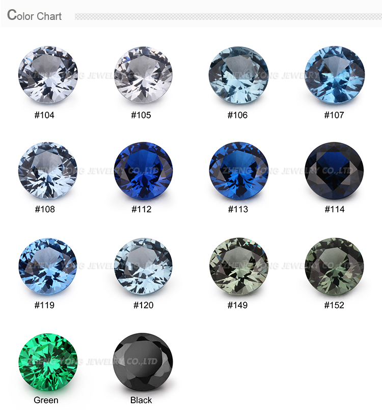 Wholesale good polished black and green spinel gemstone color chart