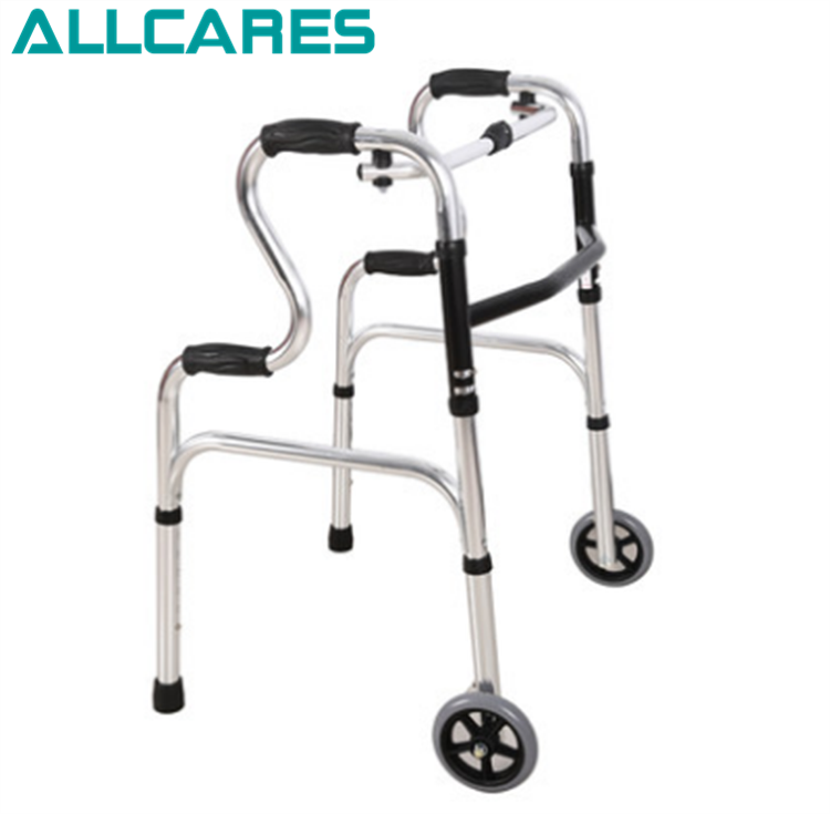 Aluminum alloy adjustable floding walker Walking Aid with wheels