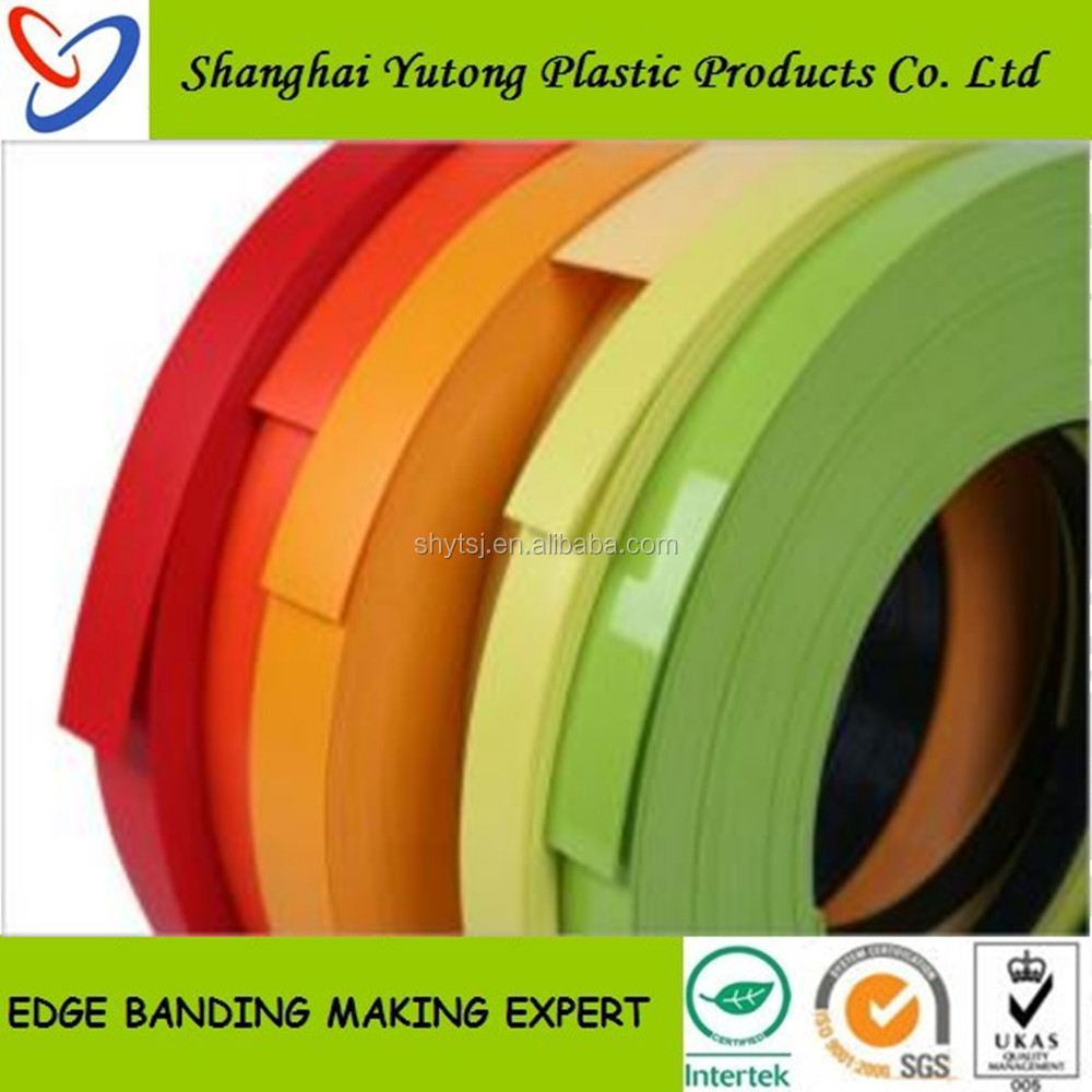 Old-established interior decorative, PVC Edge Banding for Furniture and Doors