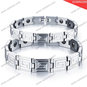 China supplier wholesale bulk sale stainless steel bracelet for lover