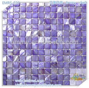 2012 new design dyed China freshwater mother of peal river shell mosaic wall tile