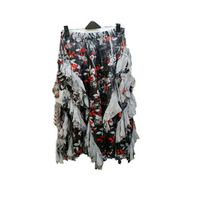 luxury & beautiful wholesale price guangzhou dongguan china factory chiffon print latest ladies skirt
