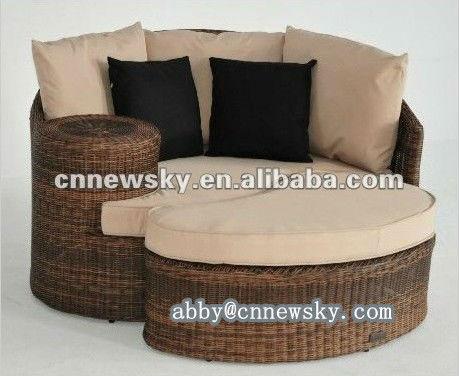 sofa rattan garten