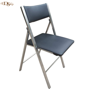 2018 Colorful Leather Compact Folding Chair With Soft Cushion