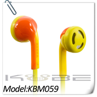 China Cell phone accessory headset with cloth cord