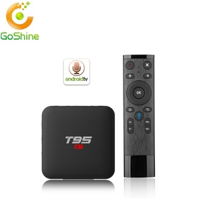 goshine 2018 TV streaming box T95 S1 Android 7 1 OS 2G 16G set top box with  display T95 S1 smart media player