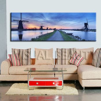 Dutch Scenic Windmills Canvas Print Large Picture Wall Art - Buy ...