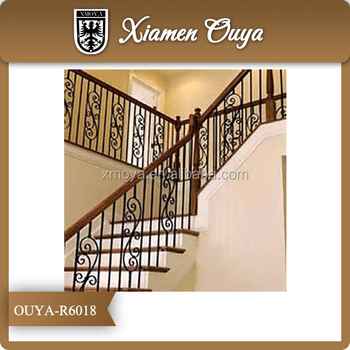 OUYA Used Wrought Iron Stair Railing Design