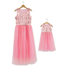 European Style Red Sequins Flower Girl Wedding Party Dress