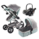 Baby stroller cart reborn baby car seat in high chair