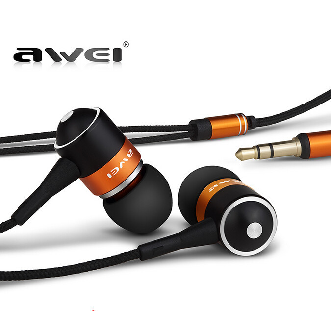 AWEI ES Q3 High Quality 3.5mm Jack Noise Isolation Headphone In-ear Style