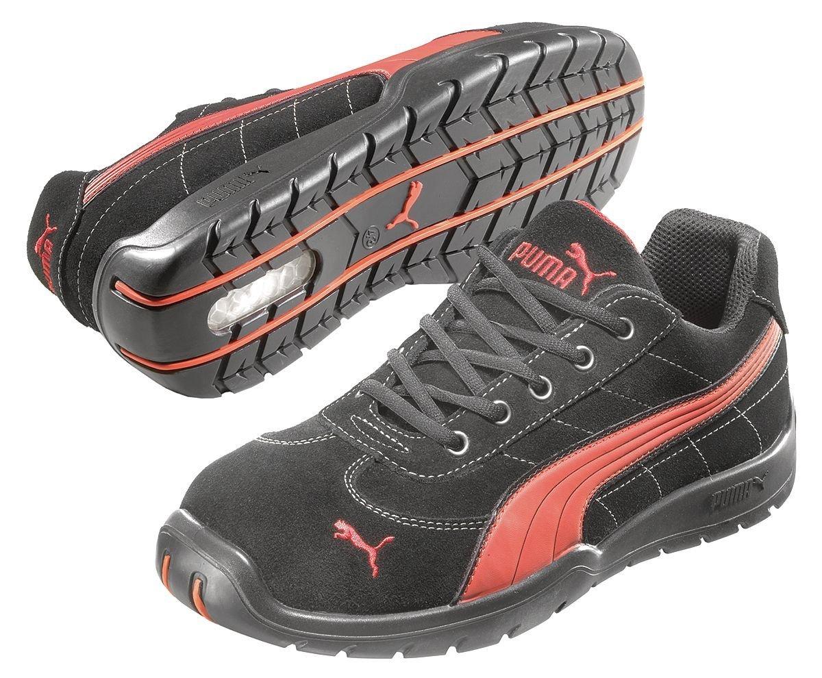 Athletic Work Shoes, Stl, Mn, 9, Blk, 1PR