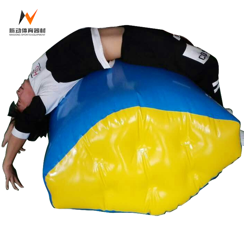 Fitness Inflatable Air Barrel Back Handspring Trainer With Indoor Gymnastic Equipment