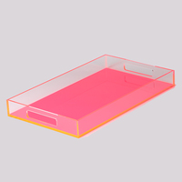lucite chocolate candy fudge nuts food tray crystal clear lucite acrylic showcase display tray for retail stores