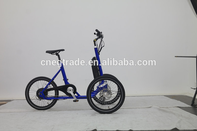 electric 2 wheel adult cargo tricycle with front two wheel for family and kids cargo bike